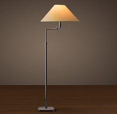 $325 floor lamp for LR- Classic Candlestick Swing-Arm Floor Lamp Bronze