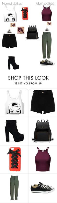 """""""First day of school"""" by cosplayer2001 ❤ liked on Polyvore featuring River Island, Charlotte Russe and Converse"""
