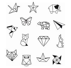 Geometrische Tier Diamond Shapes Knöchel Handgelenk temporäre Tätowierung - Knöchel Tattoo - Party Tattoo to make temporary tattoo crafts ink tattoo tattoo diy tattoo stickers Origami Tattoo, Diy Tattoo, Tattoo P, Tattoo Style, Tattoo Ideas, Tattoo Drawings, Temporary Tattoos, Small Tattoos, Cool Tattoos