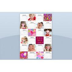 Une belle idée ! Calendrier planning monopage spécial St-Valentin - format A3 à créer pour votre dulciné(e) #calendrier #stvalentin #multiphoto