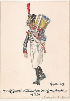 French; 93rd Line Infantry, Drummer, 1813-14