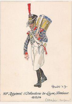 Tamburo del 93 rgt. fanteria di linea
