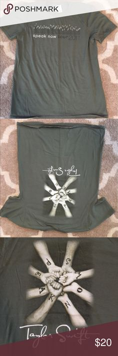Taylor Swift Speak Now Tour t-shirt Army green Taylor Swift Speak Now tour t-shirt. Gilden Soft Style Tops Tees - Short Sleeve