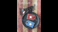 Rustic Patriotic Tag Decorated Cookie Tutorial ~ Cookie Crazie