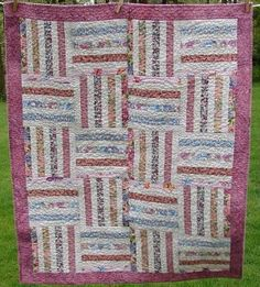 Split Rail Fence Baby Quilt Pattern by Rachel Riley from the Life of Riley. This rail fence quilt is just adorable for the little cowgirl in your life!