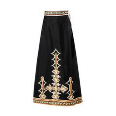 Neiman Marcus Trophy Room Vintage 1970s Embroidered Maxi Skirt