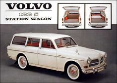 Volvo 122 S Station Wagon Volvo Ad, Volvo Wagon, Vintage Cars, Antique Cars, Custom Classic Cars, Good Looking Cars, Car Brochure, Classic Motors, Car Advertising