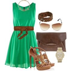 Green - Fashion created by aracely26 on Polyvore