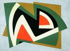 Composição 1953 | Aluísio Carvão óleo sobre tela 82.00 x 60.00 cm Coleção João Sattamini/MAC - Niterói