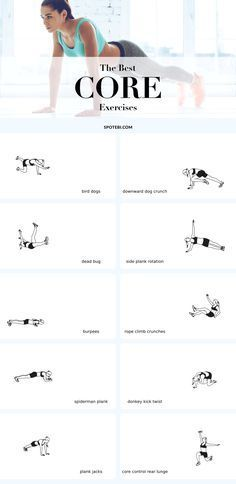The best exercises to challenge, tighten and strengthen your core! Your core includes several muscle groups that are located on your stomach, back and butt... | Posted By: CustomWeightLossProgram.com