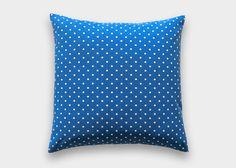 Cobalt Blue Polka Dot Throw Pillow Cover. 18X18 Inches. Royal Blue Polka Dot…