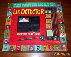 Mattel's Lie Detector Game 1960's.
