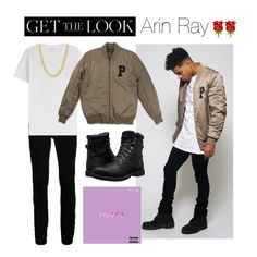 """""""Get the Look: Arin Ray"""" by polyvore-editorial ❤ liked on Polyvore featuring Topman, Majestic, Timberland, phases and ArinRay"""