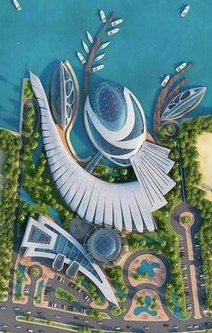 Architecture drawing - architecture Design is Future Home and Arhitecture 2019 Concept Art Landscape, Landscape Architecture Design, Architecture Portfolio, Futuristic Architecture, Concept Architecture, Sustainable Architecture, Beautiful Architecture, Futuristic City, Cyberpunk City