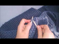 BUFANDA FÁCIL EN 30 MIN! Cómo tejer Bufanda con dos agujas para principiantes - YouTube