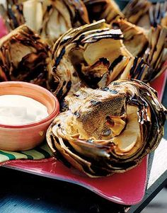 Grilled Artichokes with Creamy Butter Dip