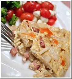 Potato, Ham and Onion Fritata