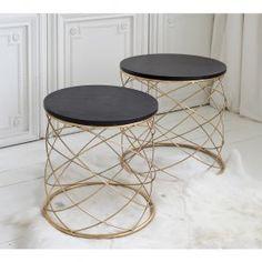 Torsade Metal Side Table Nest