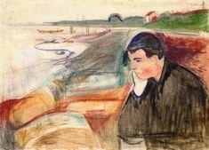 The Athenaeum - Evening, Melancholy (1891) (Edvard Munch - )