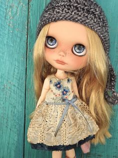 Blythe doll outfit OOAK  *Spring meadow* Grungy-chic outfit
