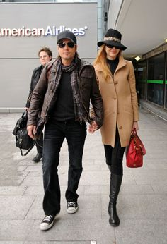 Nicole Kidman and Keith Urban nice combo hat and coat