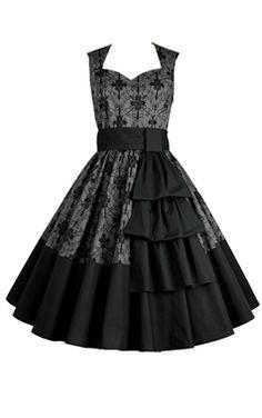 Chic Star Grey Floral Swing Dress