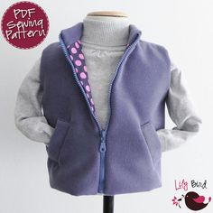 Simple Vest for Boys and Girls  12 months to von TheLilyBirdStudio