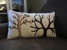 AMAZING tree pillow from legatostroke in the MMC Rnd 2 swap on Craftster