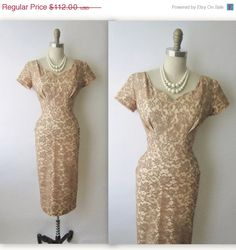 STOREWIDE SALE 50's Lace Cocktail Dress // by TheVintageStudio, $89.60