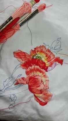 Peinture à l'aiguille réalisée par Odile