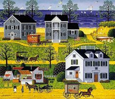 """""""Gulls Nest"""" by Charles Wysocki 2005 - Fifth in the Legacy Print Series"""