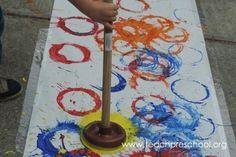 Take the Plunge and try Plunger Painting! by Teach Preschool Preschool Art Projects, Preschool Class, Preschool Ideas, Welding Projects, Woodworking Projects, Projects To Try, Wood Router, Wood Lathe, Cnc Router