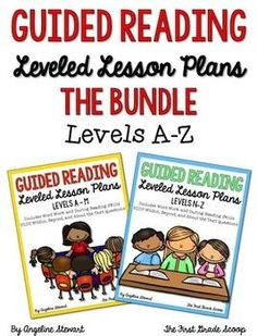 GUIDED READING LESSON PLANS THE BUNDLE LEVELS A-Z | by Angeline Stewart | $11.00
