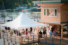 Sunshine Coast BC wedding, design and decor by Coastal Weddings www.coastalweddings.ca Sunshine Coast Bc, Marina Bay Sands, Coastal, Patio, Weddings, Building, Outdoor Decor, Travel, Design