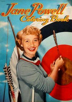 Jane Powell Coloring Book | MattAdore