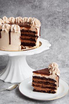 chokladtårta med chokladmousse – Peter bakar
