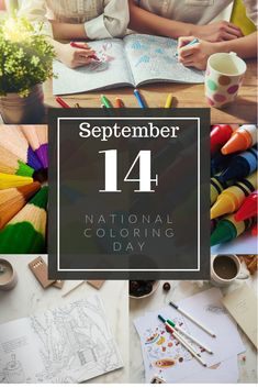 Take an easy Saturday and celebrate National Coloring Day September 14th. Click the link for printable coloring pages! Coloring Pages For Grown Ups, Easy Coloring Pages, Free Adult Coloring Pages, Flower Coloring Pages, Coloring Pages To Print, Free Printable Coloring Pages, Coloring Sheets, Coloring Books, Skull Coloring Pages