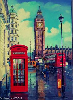 London's Calling. Awesome....The Big Ben, de dubbeldekkers en natuurlijk zo'n mooie authentieke telefooncel!!