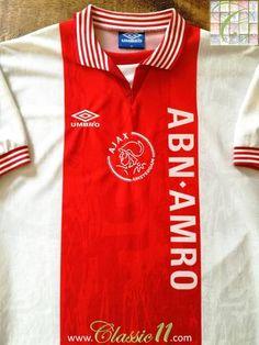 1996 97 Ajax Home Football Shirt (M) 2c2288a66