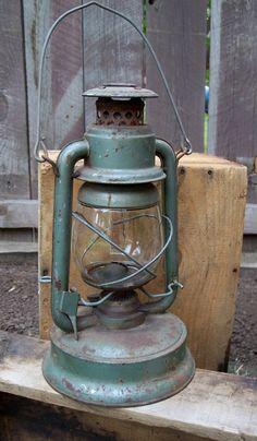 Vintage Oil Lantern Little Supreme Lantern Green by MiscKDesigns