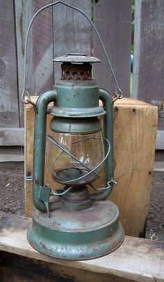Vintage Oil Lantern Little Supreme Lantern Green by MiscKDesigns