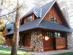 Plans To Create Blossoming Memories! Cozy Cabin, Cozy Cottage, Cabin Homes, Log Homes, Cabin Plans, House Plans, Cabins And Cottages, Home Upgrades, Cabin Design