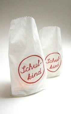 3 x Geschenketüten / Windlichttüten 'Schulkind' - + Schulanfang von Lena-und-Max - Schultüten - Schule & Lernen - DaWanda