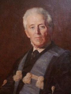 Portrait of Dr. Joseph Bell, Edinburgh physician thought to be the model for Conan Doyle's Sherlock Holmes.