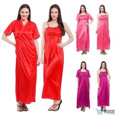 NEW SEXY SATIN LONG CHEMISE NIGHT DRESS NIGHTDRESS NIGHTIE SLIP ROBE GOWN