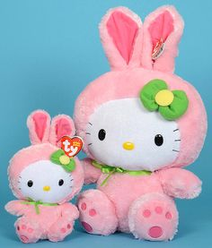 Hello Kitty (bunny costume) Beanie Baby and Buddy versions