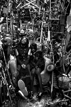 Black steam punk models.
