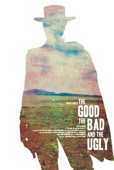 The Good, the Bad, and the Ugly minimalist movie poster