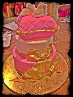 8 Best Daughter In Law S Pink And Gold Baby Shower Ideas