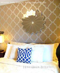 moorish trellis wall stencil - Bedroom Stencil Ideas